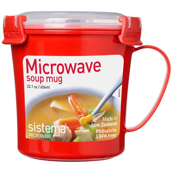 Контейнер для продуктов Sistema Microwave Soup Mag 656мл Red (1107)