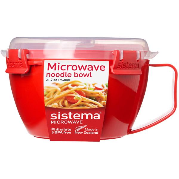 Контейнер для микроволновой печи Sistema Microwave Noodle Bowl 940мл Red (1109) razrabotana novaia sistema videonabludeniia dlia rossiiskih kosmonavtov