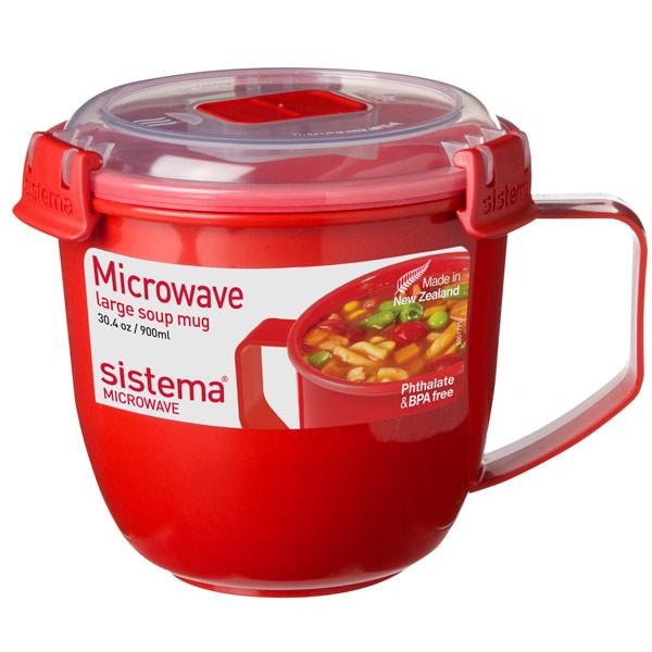 Контейнер для микроволновой печи Sistema Microwave Soup Mag 900мл Red (1141)