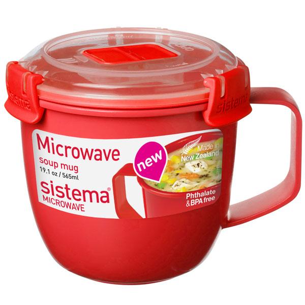 Контейнер для микроволновой печи Sistema Microwave Soup Mag 565мл Red (1142)