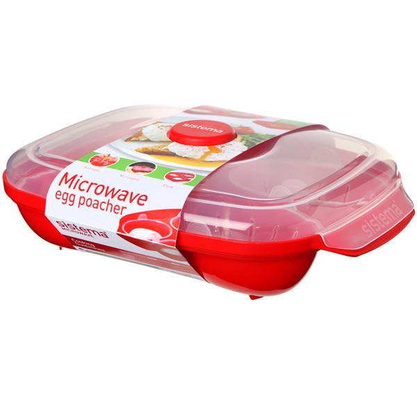Контейнер для микроволновой печи Sistema Microwave Egg Poacher Red (1150)