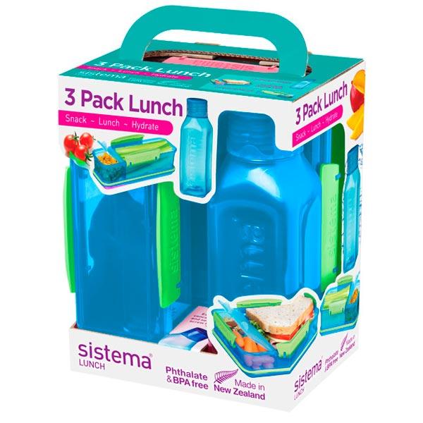 Фото - Контейнер для продуктов Sistema 3 Pack Lunch 475мл Blue (1595) пенал dakine lunch box 5 l augusta