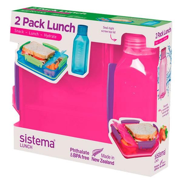 Контейнер для продуктов Sistema 2 Pack Lunch 475мл Red (1597)