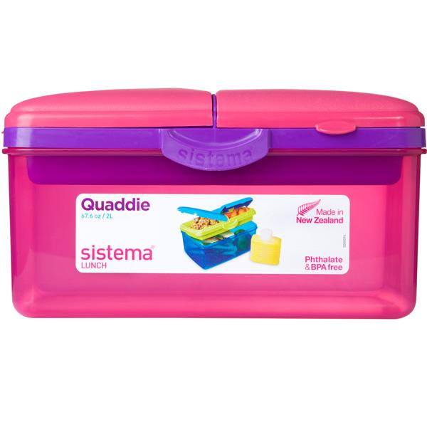 Фото - Контейнер для продуктов Sistema Lunch Quaddie 1.5л Red (3970С6) пенал dakine lunch box 5 l augusta
