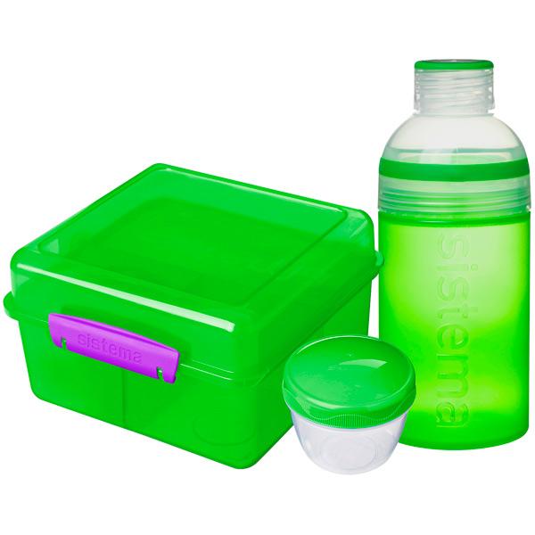Контейнер для продуктов Sistema Lunch Pack 2л Green (41580) набор велосипедных сумок thule pack n pedal shield pannier размер l салатовый 2 шт 100063