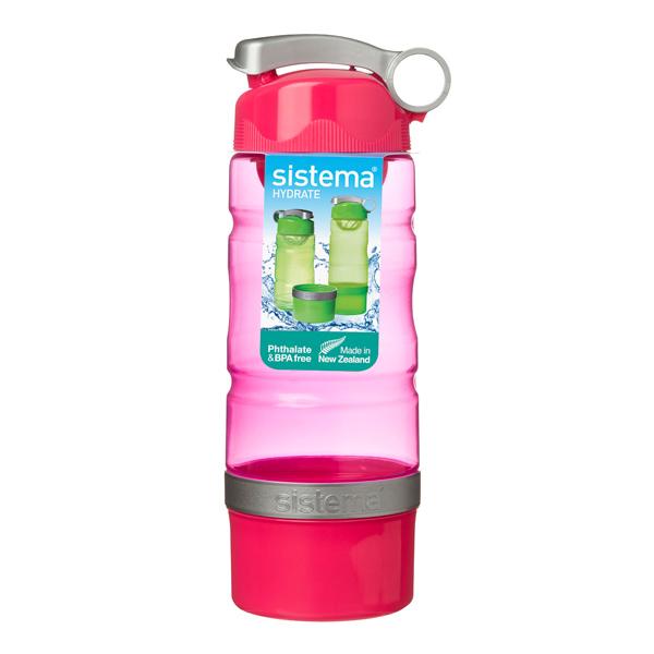 Бутылка для воды Sistema Hydrate Sport Fusion 615мл Red (535) уход за ногтями nailtek hydrate 3 объем 15 мл
