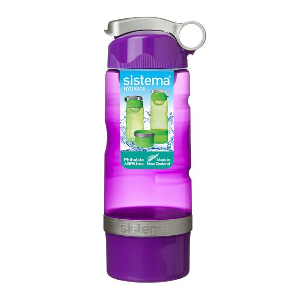 Бутылка для воды Sistema Hydrate Sport Fusion 615мл Violet (535) уход за ногтями nailtek hydrate 3 объем 15 мл