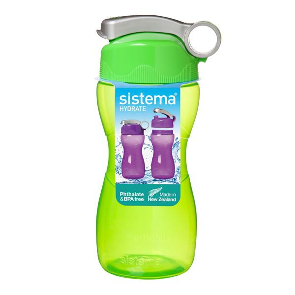 Бутылка для воды Sistema Hydrate Hourglass 475мл Green (580)