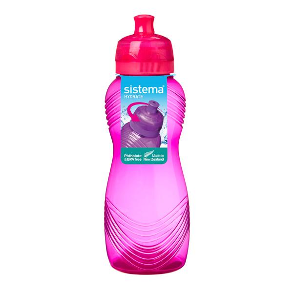 Бутылка для воды Sistema Hydrate Wave Bottle 600мл Red (600) china red snuff bottle bilingual