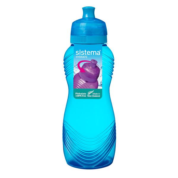 Бутылка для воды Sistema Hydrate Wave Bottle 600мл Blue (600) ahava time to hydrate нежный крем для глаз 15 мл