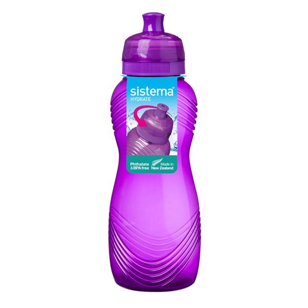 Бутылка для воды Sistema Hydrate Wave Bottle 600мл Violet (600) бутылка для воды sistema hydrate трио цвет фиолетовый 480 мл 820