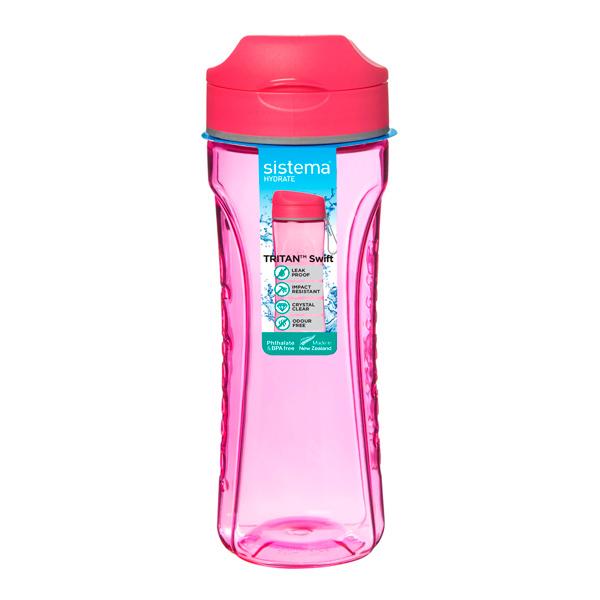Бутылка для воды Sistema Hydrate Tritan Swift 600мл Red (640)