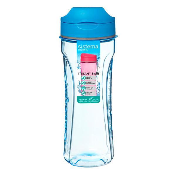 Бутылка для воды Sistema Hydrate Tritan Swift 600мл Blue (640)