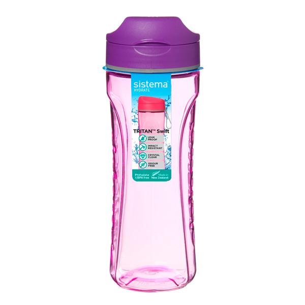 Бутылка для воды Sistema Hydrate Tritan Swift 600мл Violet (640)