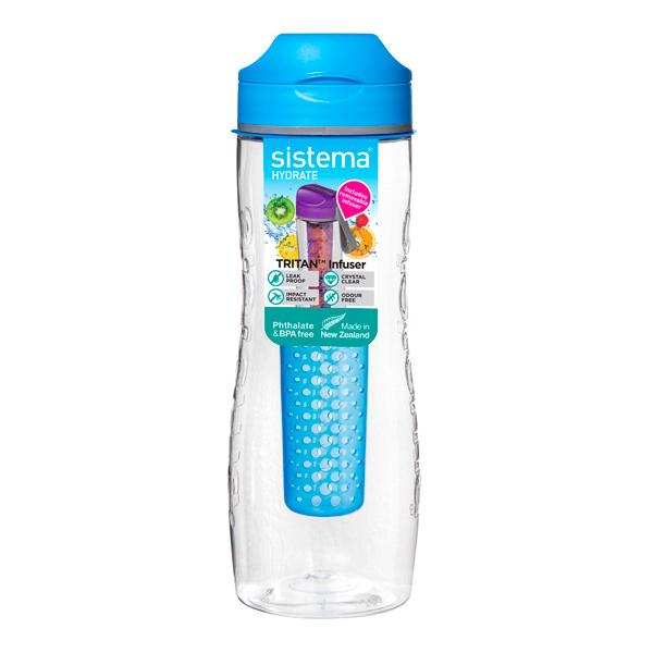 Бутылка для воды Sistema Hydrate Tritan Infuser 800мл Blue (660) уход за ногтями nailtek hydrate 3 объем 15 мл