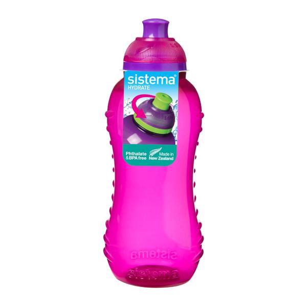 Бутылка для воды Sistema Hydrate Twist \'n\' Sip 330мл Pink (780NW)