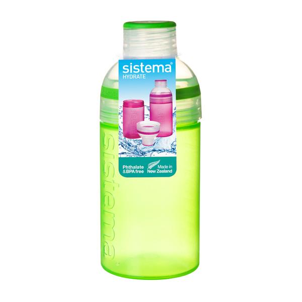 Бутылка для воды Sistema Hydrate Trio 480мл Green (820) бутылка для воды sistema hydrate трио цвет фиолетовый 480 мл 820