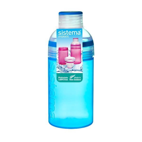Бутылка для воды Sistema Hydrate Trio 480мл Blue (820) бутылка для воды sistema hydrate трио цвет фиолетовый 480 мл 820