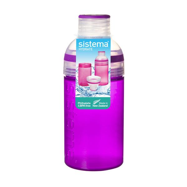 Бутылка для воды Sistema Hydrate Trio 480мл Violet (820) ahava time to hydrate нежный крем для глаз 15 мл