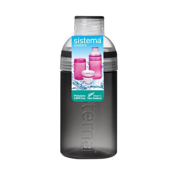 Бутылка для воды Sistema Hydrate Trio 480мл Black (820)