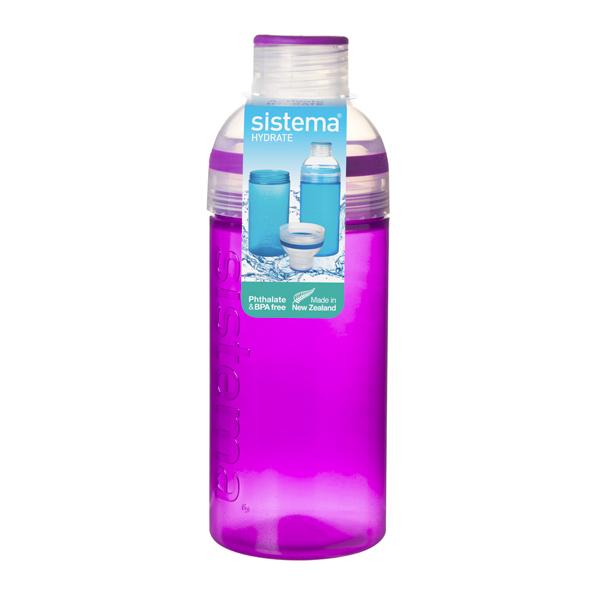 Бутылка для воды Sistema Hydrate Trio 580мл Violet (830) ahava time to hydrate нежный крем для глаз 15 мл