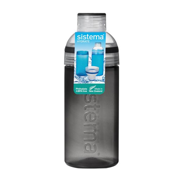 Бутылка для воды Sistema Hydrate Trio 580мл Black (830) ahava time to hydrate нежный крем для глаз 15 мл