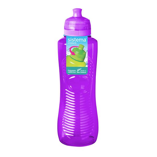 Бутылка для воды Sistema Hydrate Gripper Bottle 800мл Violet (850) уход за ногтями nailtek hydrate 3 объем 15 мл