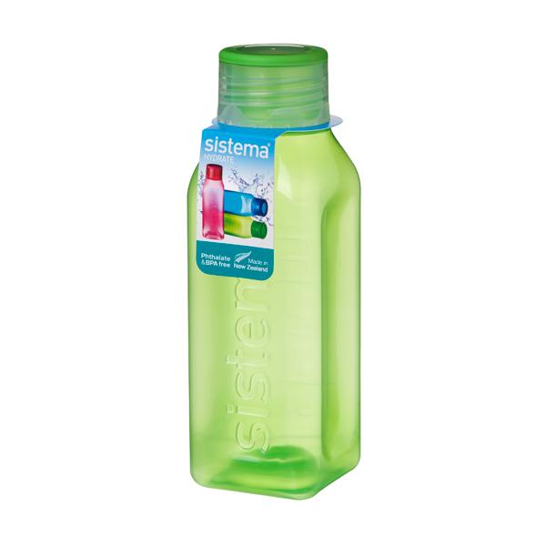 Бутылка для воды Sistema Hydrate Square Bottle 475мл Green (870)