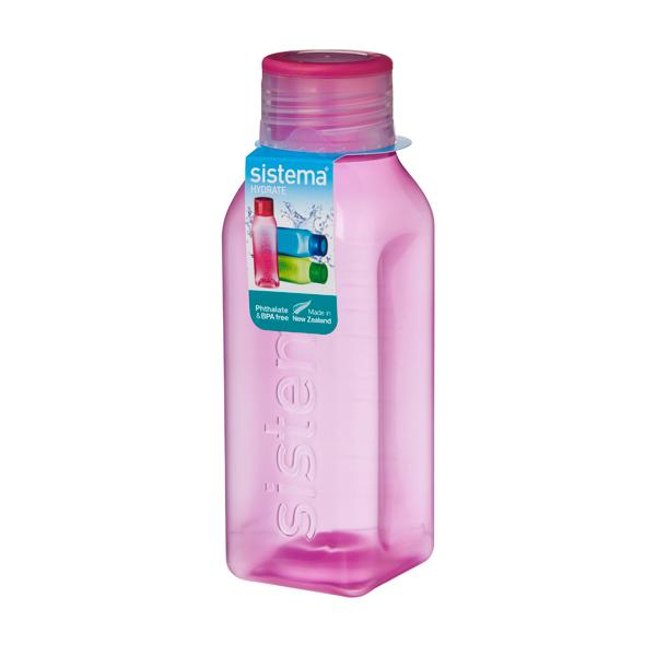 Бутылка для воды Sistema Hydrate Square Bottle 475мл Red (870)