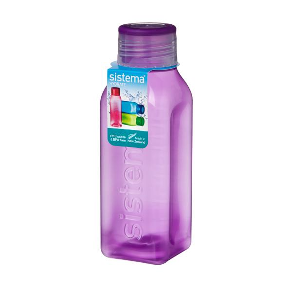 Бутылка для воды Sistema Hydrate Square Bottle 475мл Violet (870)