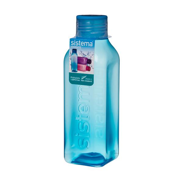 Бутылка для воды Sistema Hydrate Square Bottle 725мл Blue (880) уход за ногтями nailtek hydrate 3 объем 15 мл