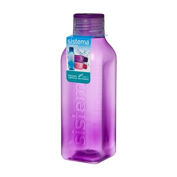 Бутылка для воды Sistema Hydrate Square Bottle 725мл Violet (880) уход за ногтями nailtek hydrate 3 объем 15 мл