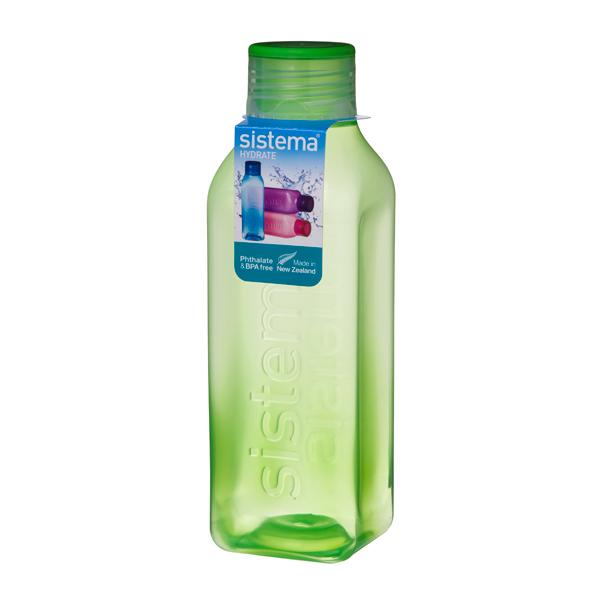 Бутылка для воды Sistema Hydrate Square Bottle 1л Green (890)