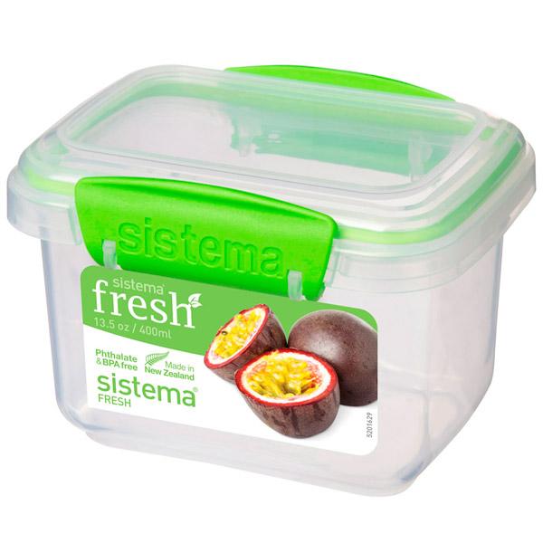 Контейнер для продуктов Sistema Rectangle Fresh 400мл Lime Green (951540)