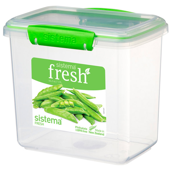 Контейнер для продуктов Sistema Rectangle Fresh 1.9л Lime Green (951680)