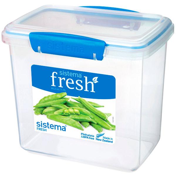 Контейнер для продуктов Sistema Rectangle Fresh 1.9л Marine Blue (921680)