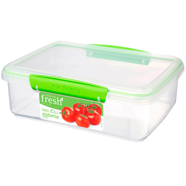 Контейнер для продуктов Sistema Rectangle Fresh 2л Lime Green (951700)