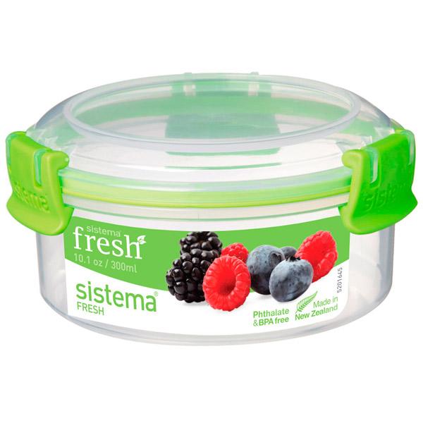 Контейнер для продуктов Sistema Round Fresh 300мл Lime Green (951303)