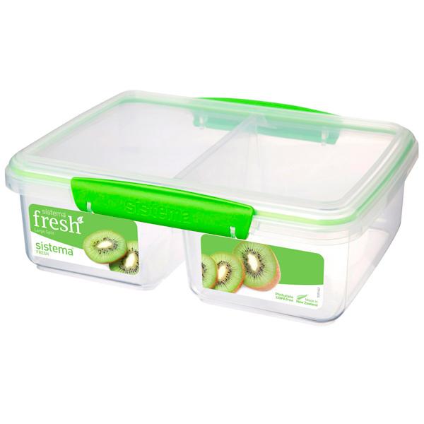 Контейнер для продуктов Sistema Split Fresh 2л Lime Green (951720)