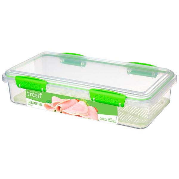 Контейнер для продуктов Sistema Deli Plus Fresh 1.75л Lime Green (951481) скейт sulov neon lime green