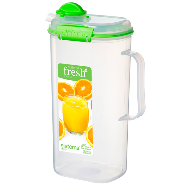 Контейнер для продуктов Sistema Juice Jug Fresh 2л Lime Green (951420) fresh juice мыло косметическое orange