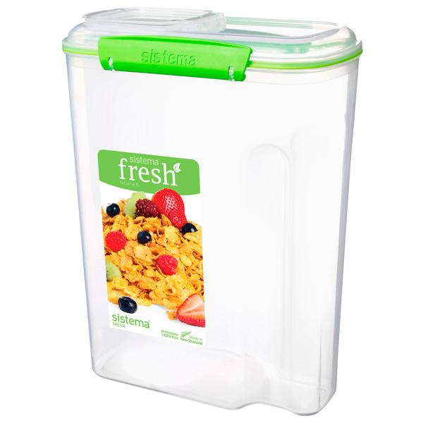 Контейнер для продуктов Sistema Cereal Fresh 4.2л Lime Green (951450) цена 2017