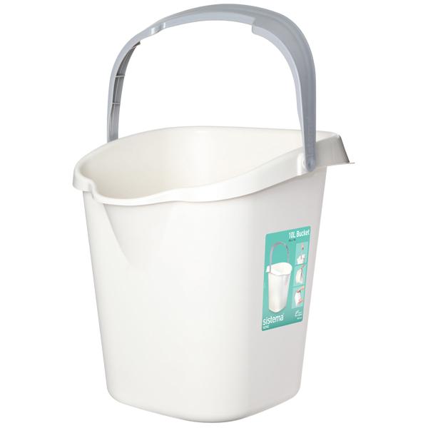 Хозяйственный товар Sistema Home Bucket 10л White (51110)