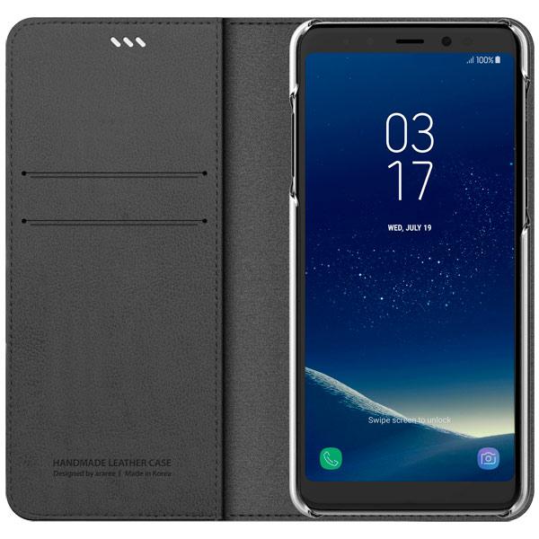 Araree, Чехол для сотового телефона, Mustang Diary для Samsung A8 (2018) Charcoal Gray