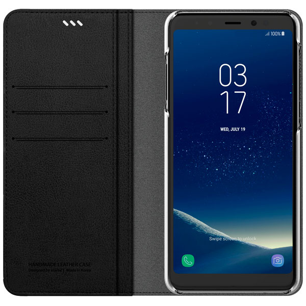 Araree, Чехол для сотового телефона, Mustang Diary для Samsung A8+ (2018) Black