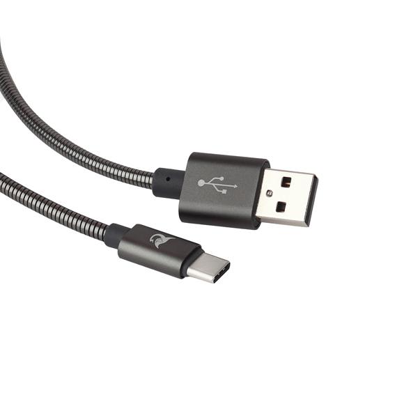 Кабель USB Type-C Elray TYPEA, TYPE C, 1.2м (AC20MBC12GR)