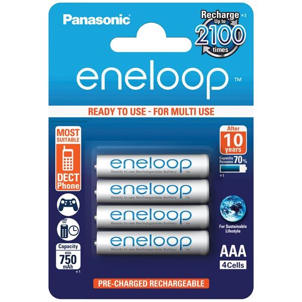 Аккумулятор Panasonic Eneloop BK-4MCCE/4BE r03 aaa eneloop lite ni mh 550mah 4 panasonic 5410853052760