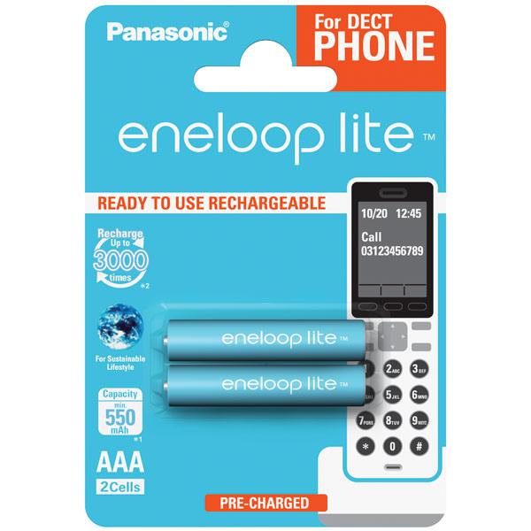 Аккумулятор Panasonic Eneloop BK-4LCCE/2DE r03 aaa eneloop lite ni mh 550mah 4 panasonic 5410853052760