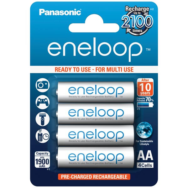 Аккумулятор Panasonic Eneloop BK-3MCCE/4BE r03 aaa eneloop lite ni mh 550mah 4 panasonic 5410853052760