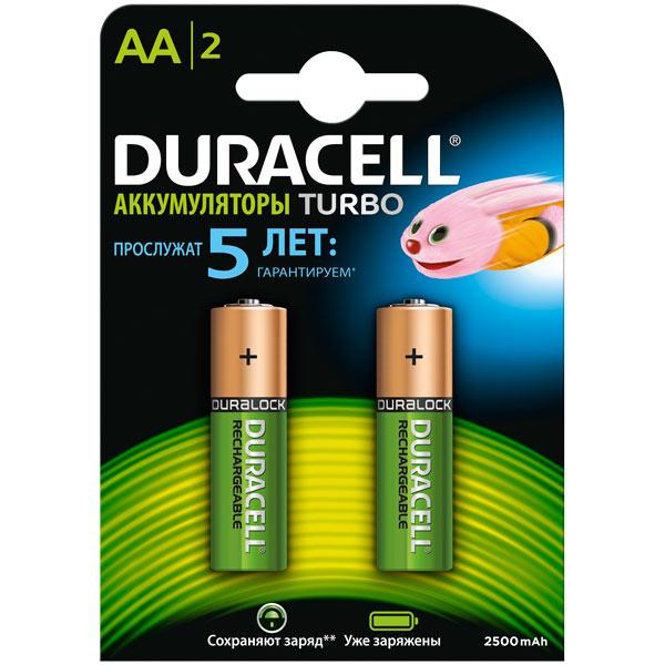 Аккумулятор Duracell AА HR6-2BL 2400mAh/2500mAh Turbo 2шт. предзаряж. аксессуар baofeng bl 5 1800 mah